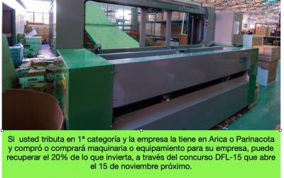 Postula al Concurso DFL 15 y recupera el 20% de tus Inversiones